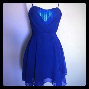 Jack by BB Dakota Blue Sequined Dress sz Sm